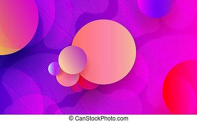 blu, rosa, cerchi, colorare, luce, astratto, forme, fondo, geometrico