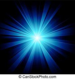 blu, scoppio, colorare, vettore, disegno, file, included