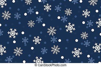 blu scuro, cadere, fondo, neve
