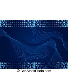 blu, scuro, effetto, fondo, halftone