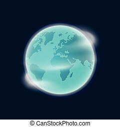 blu, scuro, globo, isolato, illustrazione, pianeta, vettore, fondo, terra