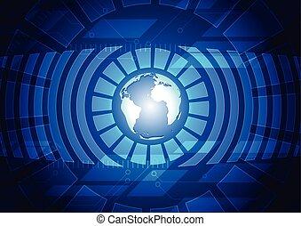 blu scuro, tecnologia, fondo