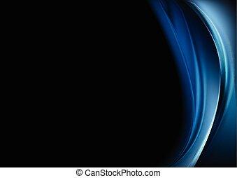 blu, sfondo nero, onde