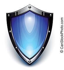 blu, sicurezza, scudo