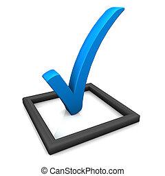blu, simbolo, elenco, assegno