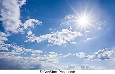 blu, soleggiato, cielo