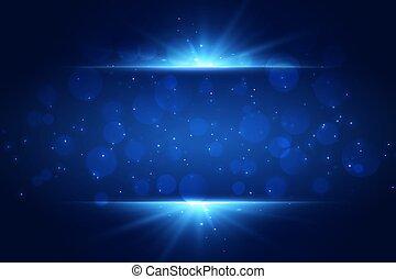 blu, spazio, luce, fondo, testo, scintille