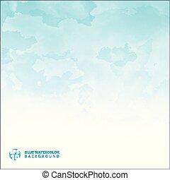 blu, spazio, luce, text., struttura, acquarello, fondo, copia
