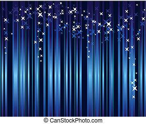 blu, stelle, verticale, astratto, zebrato, fondo