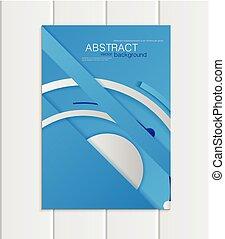blu, stile, formato, materiale, elemento, vettore, a5, a4, opuscolo, disegno, corporativo, o