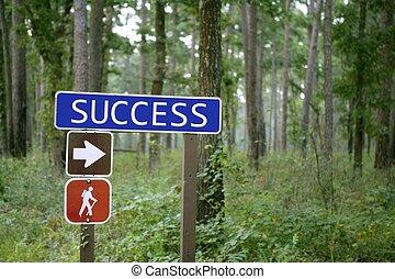 blu, successo, segno, foresta verde, traffico, messaggio