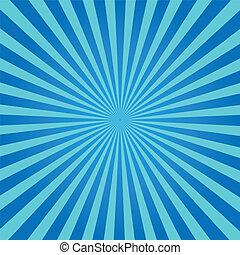blu, sunburst