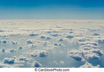 blu, superiore, livelli, cielo, nubi, atmosphere.