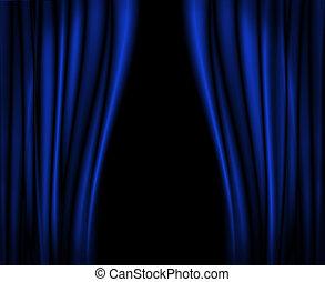 blu, tenda, stage.