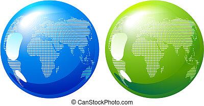 blu, terra, verde