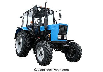 blu, trattore