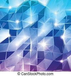 blu, triangles., vettore, splendere, fondo