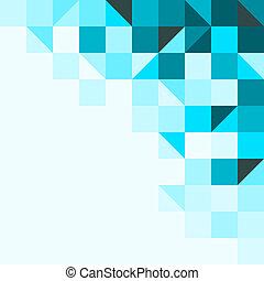 blu, triangoli, fondo