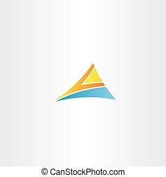 blu, triangolo arancia, lettera, logotipo