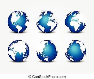blu, tutto, concetto, intorno, ), (, pianeta, conservazione, mondo, terra, lato