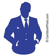blu, uomo affari
