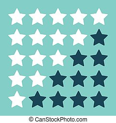 blu, valutazione, stelle