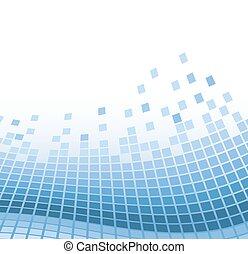 blu, vettore, astratto, illustrazione, particles., ondulato, fondo, mosaico