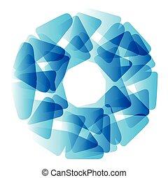 blu, vettore, circle., astratto