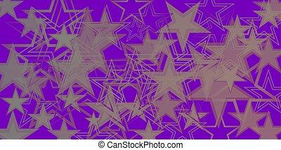 blu, viola, metallico, stars., vettore, fondo