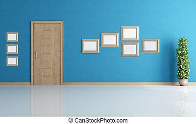 blu, vuoto, interno