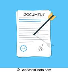 blu, web, stile, concetto, freccia, affari, appartamento, mobile, attaccato, isolato, illustrazione, wall., luogo., domanda, vettore, fondo., file, documento, o, icona