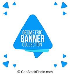 blu, web, triangolo, banner., illustrazione, vettore, disegno