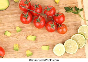 board., verdure fresche, taglio