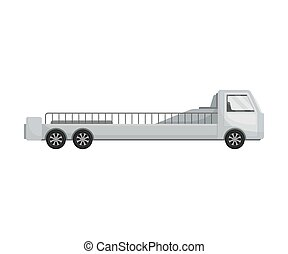 body., illustrazione, fondo., vettore, camion, lungo, bianco