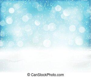 bokeh, blu, vacanza, fondo, luce inverno