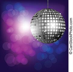 bokeh, palla, fondo, discoteca