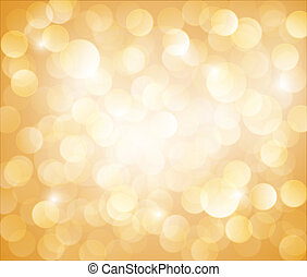 bokeh, vettore, soleggiato, sfondo giallo