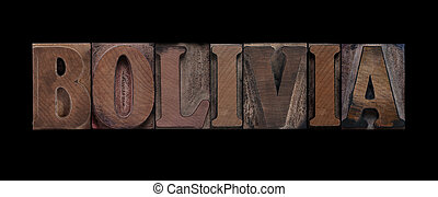 bolivia vecchia, legno, tipo