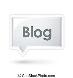 bolla, discorso, blog, parola