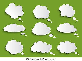 bolla discorso, nuvola, collezione