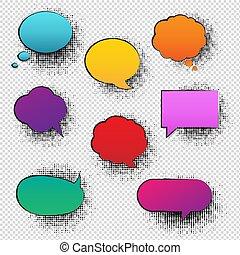 bolla discorso, retro, fondo, trasparente