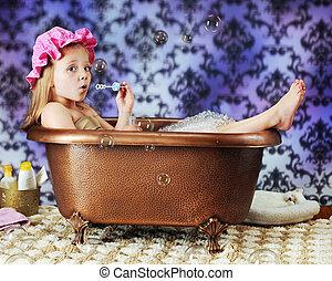 bolla, soffiatore, vasca bagno