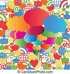 bolle, discorso, rete, sociale
