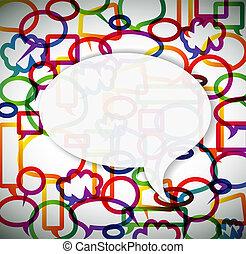 bolle, fatto, discorso, fondo, colorito