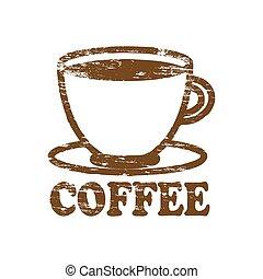 bollo gomma, caffè