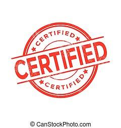 bollo gomma, certificato