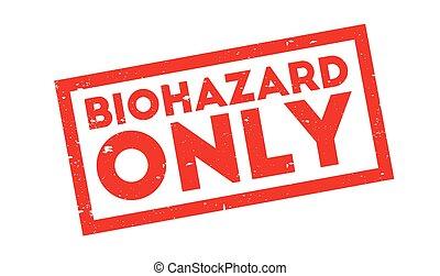 bollo gomma, soltanto, biohazard