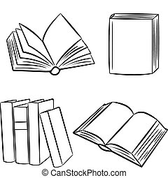 books., illustration., vettore