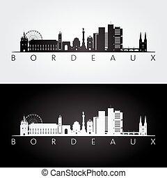 bordeaux, limiti, silhouette, orizzonte