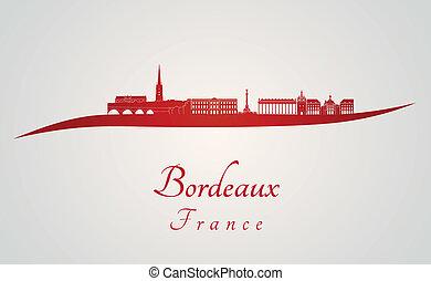 bordeaux, orizzonte, rosso